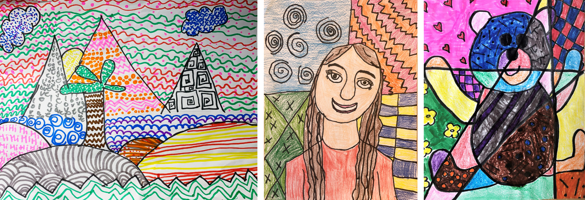 Masterpieces by primary student artists